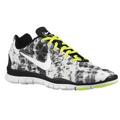 fd4109f6e6591 Nike Free TR Fit 3 Print - Women s - Black White Volt Strata Grey --whoops  used a coupon   accidentally bought them.