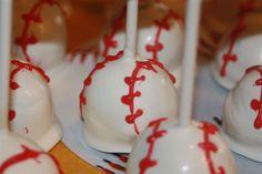Baseball cake pops!