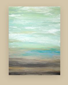 Shabby Chic Beach Art Original Acrylic Painting by OraBirenbaumArt
