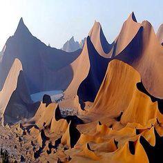 Wind Cathedral, Namibia.  zandsculpturen in Namibië, door de wind gemaakt