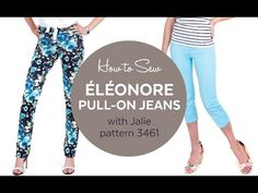 How to Sew the Éléonore Jeans (Jalie pattern 3461) - YouTube