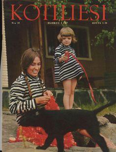Kotiliesi 1967-08, Marimekko mother and daughter. Photo: Max Petrelius,