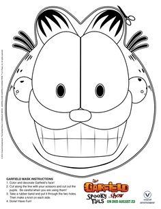 Free Printable: Print & Color Garfield Mask