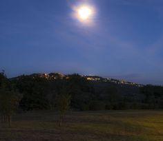 Massa Marittima under the moon.