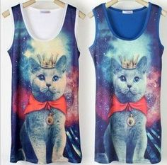 king cat on the universe t shirt by arsenic lover