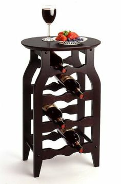 "Wine Rack 8-Bottle by HFD. $47.96. LxWxH: 16""x12.5""x25"". Color: Dark Espresso. Solid / Composite Wood. This solid wood wine rack is perfect for use in any room. Espresso finish combine with solid wood to bring function and style together in this small wine rack."