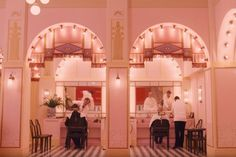 Vogue's pick of the best Wes Anderson interiors, including The Grand Budapest Hotel, The Royal Tenenbaums, The Darjeeling Limited, Fantastic Mr Fox and Moonrise Kingdom. Wes Anderson Style, Wes Anderson Movies, West Anderson, Grand Hotel Budapest, Grand Budapest Hotel Film, Architecture Restaurant, Grande Hotel, The Royal Tenenbaums, Hotel Interiors