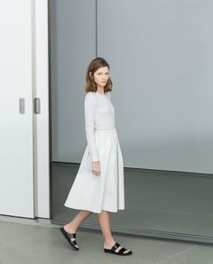 Zara White Combination Dress + birkenstocks