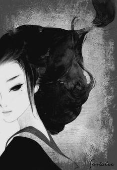 Purity | Sasha Lee #art #mixedmedia #ink #gouache