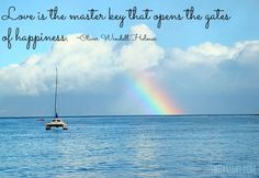 Love Quotes - Love is the Master Key that opens the gates of happiness.