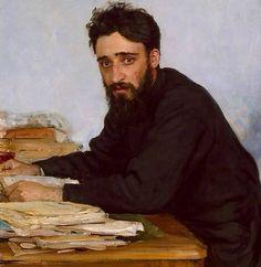 "Ilyan Repin ""Vselevod Mikhailovich Garshin"" (1884)"