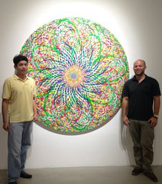 Ryan McGinness Artist Circle Painting With Victor Angelo And Ben Strauss-Malcolm Quint Contemporary Art La Jolla