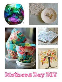 Handmade Australia: Tutorials We Love... last minute DIY mothers day gifts