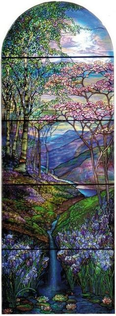 Tiffany Studios, New York | Agnes Northrop, designer | Sarah Fay Sumner Memorial Window, 1912 | Leaded glass | First Reformed Church, Albany, New York