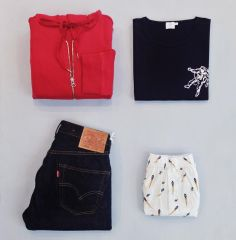 #Sunspelstyleedit: Take flight in our astronaut print T-Shirt under a red loopback hoody. Pair with Levis and our rather fun new rocket print boxers for a casual weekend look.
