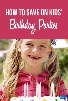With five kids, it seems I'm always planning another birthday party! Watch my video for fun ways to save big money on kids' birthday celebrations! Birthday Party Games For Kids, Birthday Party Snacks, Birthday Party Decorations, Birthday Ideas, Thanksgiving Parties, Presents For Kids, Parenting, Party Ideas, Saving Tips