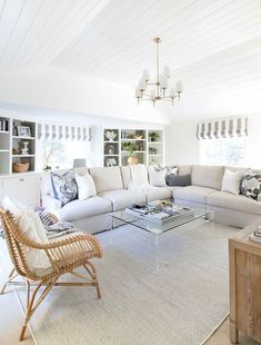 """Family room makeover in six weeks - a HUGE change from the """"before""""!"""