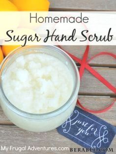casero Homemade Lemon Sugar Hand Scrub-- so simple and perfect for dry winter skin! Homemade Lemon Sugar Hand Scrub-- so simple and perfect for dry winter skin! Add a ribbon and mason jar and you have a wonderful gift! Belleza Diy, Tips Belleza, Diy Body Scrub, Diy Scrub, Sugar Hand Scrub, Sugar Scrubs, Diy Peeling, Satin Hands, Homemade Scrub