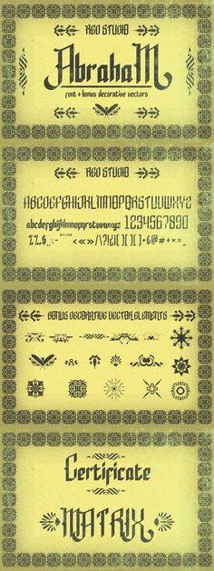 Abraham Typeface + Bonus. Display Fonts. $15.00