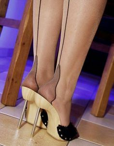 "Amazing ""Heels"" in hose and Mules."