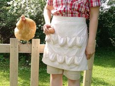 Best Selling Egg Gathering Apron BACK ORDERED by YoderSewingRoom