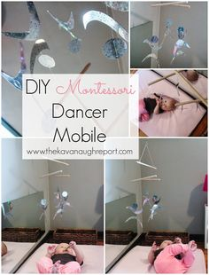 Montessori Infant Mobiles -- Visual Series. DIY Dancer Mobile