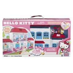 mega bloks hello kitty house- why did they not have this awesomeness when i was little?