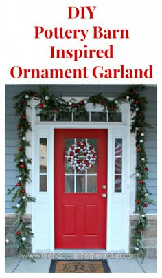 How to make a Pottery Barn inspired ornament garland