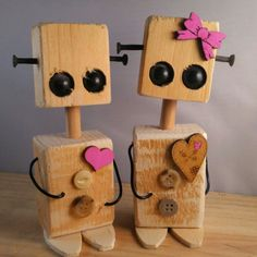 … 💕 # kitap # wooddesign # creative - My CMS Woodworking For Kids, Woodworking Toys, Woodworking Projects, Woodworking Machinery, Wooden Crafts, Diy And Crafts, Recycled Robot, Small Wood Projects, Block Craft