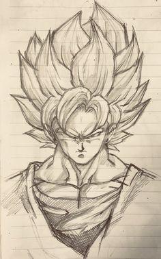 Desenho Do Dragon Ball Goku Goku Drawing, Ball Drawing, Comic Drawing, Anime Drawings Sketches, Anime Sketch, Sketch Art, Tattoo Zeichnungen, Japan Tattoo, Dragon Ball Gt