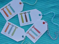 Every dad would appreciate these fun ties for Father's Day. You can make a similar look using Avery printable tags and free Father's Day printable designs at avery.com/fathersday.