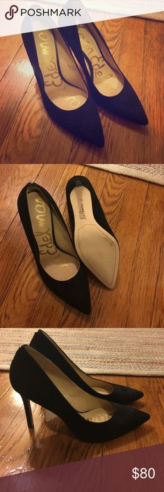 Sam Edelman new black suede heels These are gorgeous black suede pumps. I got them not realizing they were too small for me, so I've never worn them. Would love for them to find a home! Sam Edelman Shoes Heels