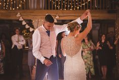 First dance at Cain Manor. Cain Manor, First Dance, Surrey, Hampshire, Newlyweds, Real Weddings, Wedding Venues, Wedding Dresses, Photography