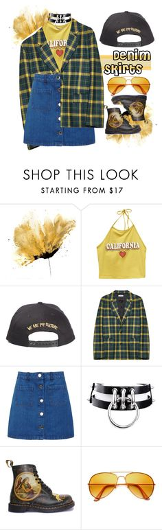 """""""Denim skirt and spring days"""" by holy-k17 ❤ liked on Polyvore featuring Wet Seal, Gosha Rubchinskiy, Miss Selfridge, Dr. Martens, Spring, autumn and denimskirts"""