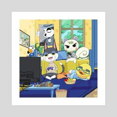 This is a gallery-quality giclèe art print on cotton rag archival paper, printed with archival inks. Marshal Animal Crossing, Animal Crossing Fan Art, Animal Crossing Memes, Animal Crossing Characters, Animal Crossing Villagers, Chill, High Noon, Like Animals, Geek Art