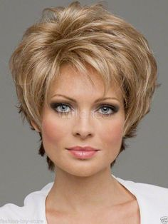 Light Gold Blonde Synthetic Hair Wigs Quality Women's Short Wig #FullWig