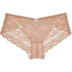 Myla Nicole caramel lace briefs featuring polyvore, women's fashion, clothing, intimates, panties, underwear, lingerie, bottoms, accessories, lace panty, briefs panties, lacy lingerie, lacy panties and bow lingerie