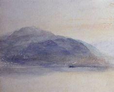 Joseph Mallord William Turner, 'Mount Pilatus from across Lake Lucerne' c.1842