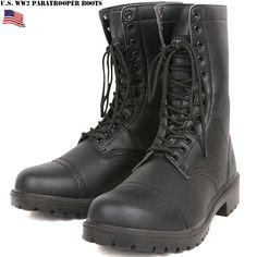 【楽天市場】新品 米軍 WW2 パラトルーパーブーツ ブラック 【70-1007】 アメリカ軍空挺部隊のブーツの復刻 汚れに強く、軽量で履きやすいのが特徴 mss WIP 新生活:ミリタリーセレクトショップWIP