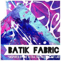 Friends Art Lab inspired Batik fabric simple process art for kids