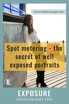 When to use spot metering? - Of all the metering modes, spot metering is best for accurate exposure in portrait photography. Metering Photography, Exposure Photography, Light Photography, Amazing Photography, Improve Photography, Photography Settings, Creative Photography, Street Photography Tips, Portrait Photography Tips