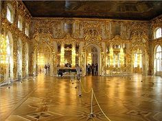 One of the public rooms inside the Catherine Palace in Tsarskoe Selo (Tsar's Village) Russia