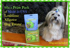 Enter on To Dog With Love to win a Louisiana Alligator Dog Treats Prize Pack -- made in USA treats with alternative protein sources your dog will love! Ends 1/30/13