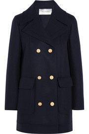 Only 1 left in each size category. Beautiful, beautiful, beautiful.  ValentinoWool-blend peacoat