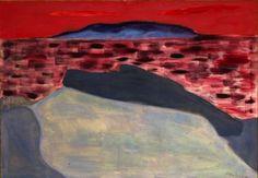 """Milton Avery """"Sunset At Sea"""" 1960"""