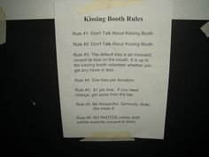 kissing booth rules by bageler, via Flickr Cheer Poses, Memo Notepad, Movie Co, Bestie Gifts, Kissing Booth, First Kiss, Netflix, Girly, How To Get