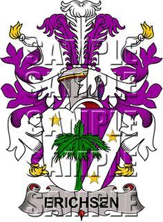 Erichsen Family Crest apparel, Erichsen Coat of Arms gifts