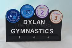 Gymnastics Badge and Medal Plaque sports achievement plaque sports badge display medal holder children& award display sports plaque by ClaireyFairyMakes Medal Holders, Badge Holders, Award Display, Sports Medals, Sports Awards, Badges, Gymnastics, Handmade Gifts, Fairy