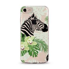 Tropical Zebra iPhone 6 case, iphone 6s case transparent clear case