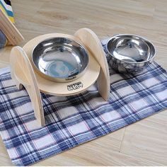 ==> [Free Shipping] Buy Best Anti-skid Dog Cat Food Water Bowl Wooden Pet Feeding Tool Stainless Steel Travel Dog Feeder Mascota Perro Pet Product Online with LOWEST Price   32810365797